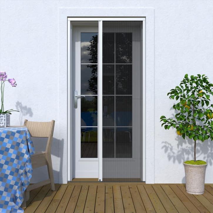 mosquitera para puerta que da al jardin